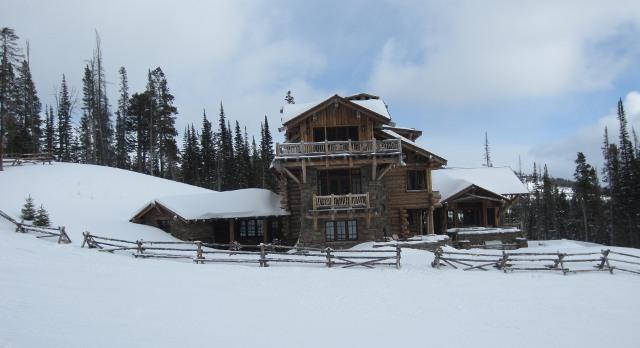 Typical Big Sky slopeside house
